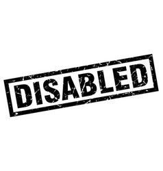 square grunge black disabled stamp vector image vector image