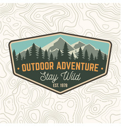stay wild outdoor adventure patch vector image