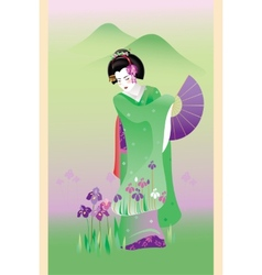 Summer geisha vector
