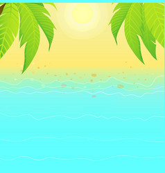summertime empty background with sandy shoreline vector image