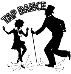 Tap Dance Teacher vector