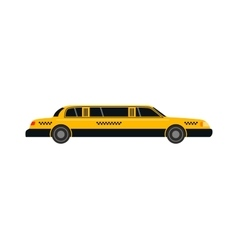 Taxi yellow car style vector image