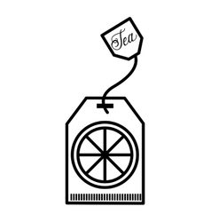 tea bag isolated icon design vector image