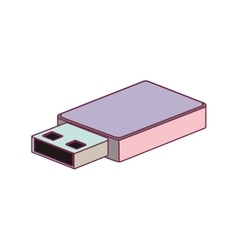 Tech small pen drive device minimalist vector
