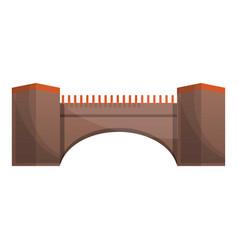 tower bridge icon cartoon style vector image