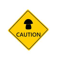 Traffic sign for mushrooms on white vector