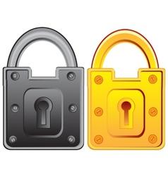 Two locks from door vector