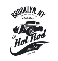 Vintage hot rod logo vector