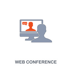 web conference icon premium two colors style vector image