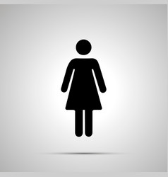 woman silhouette simple black human icon vector image