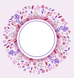 wreaths leaves and flowers banner vector image