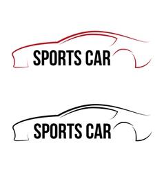 Calligraphic sport car logo vector image vector image