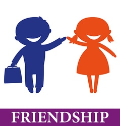 friendship vector image vector image