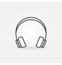 Headphone linear icon vector image