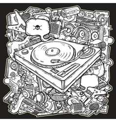 Music mix background vector image vector image