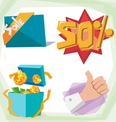 Sale object vector image vector image