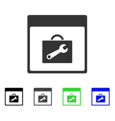toolbox calendar page flat icon vector image