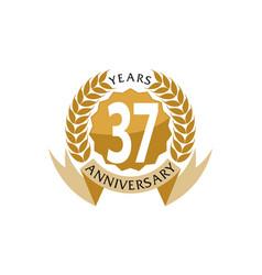 37 years ribbon anniversary vector image vector image