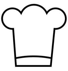 chef food restaurant stream line icon vector image