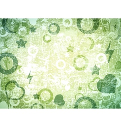 different shapes grunge background vector image