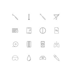 healthcare and medical simple linear icons set vector image vector image