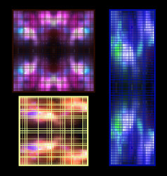 set of textures of luminous objects in the vector image vector image