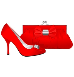 shoe and purse vector image