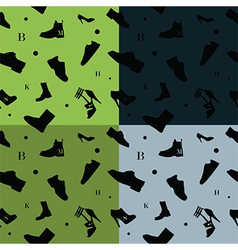 Shoes seamless pattern colors vector image