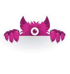 stickers peeking monster vector image vector image