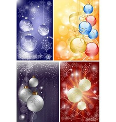 christmas background set vector image vector image