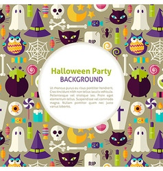 Flat Pattern Halloween Party Background vector image vector image
