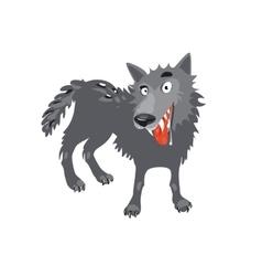 Gray wolf Cartoon toothy wolf grey vector image vector image