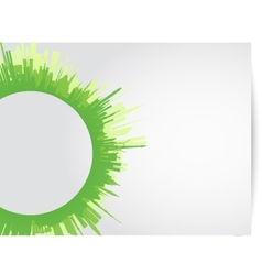 green city skyline rounded vector image vector image