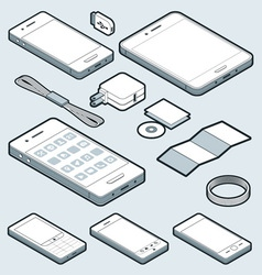 Isometric Mobile vector image vector image