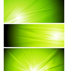 light green summer banners vector image vector image