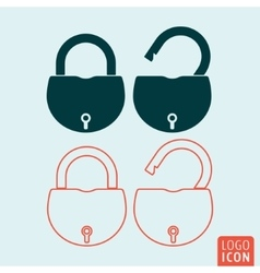 Padlock icon isolated vector image vector image