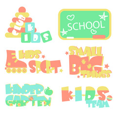 promo sings for kids club vector image vector image