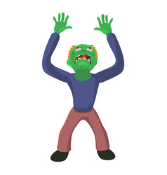 zombie looks up icon cartoon style vector image vector image