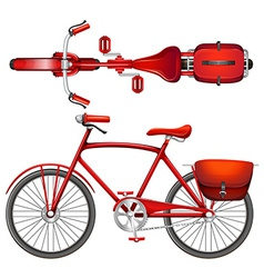 A red bicycle vector image vector image