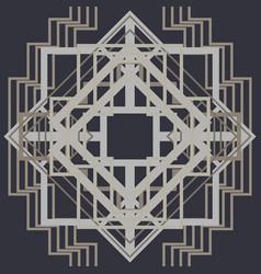 art deco pattern background vector image