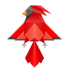 Red Cardinal Geometric Polygonal Icon vector image vector image
