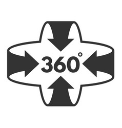 360 degree icon panoramic technology for video vector