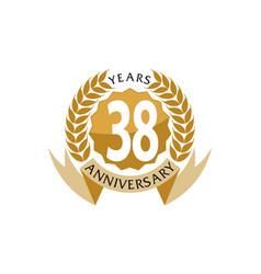 38 years ribbon anniversary vector
