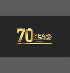 70 years anniversary celebration with elegant vector