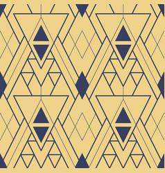 Abstract art deco seamless gold geometric tiles vector