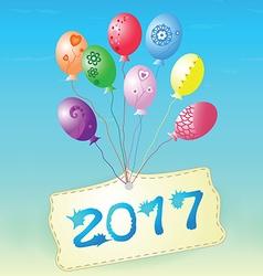 Balloons Congratulation 2017 vector
