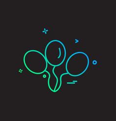 balloons icon design vector image