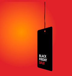 black friday sale black tag advertising round vector image