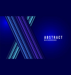 blue abstract ornamental glowing background vector image