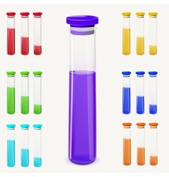Bottles of potion vector image